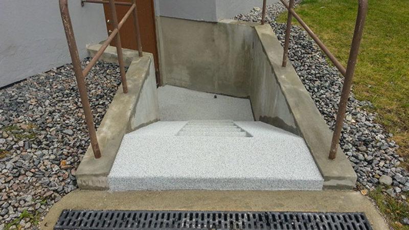 Renovering källartrappor Brf Vasen Vaxholm